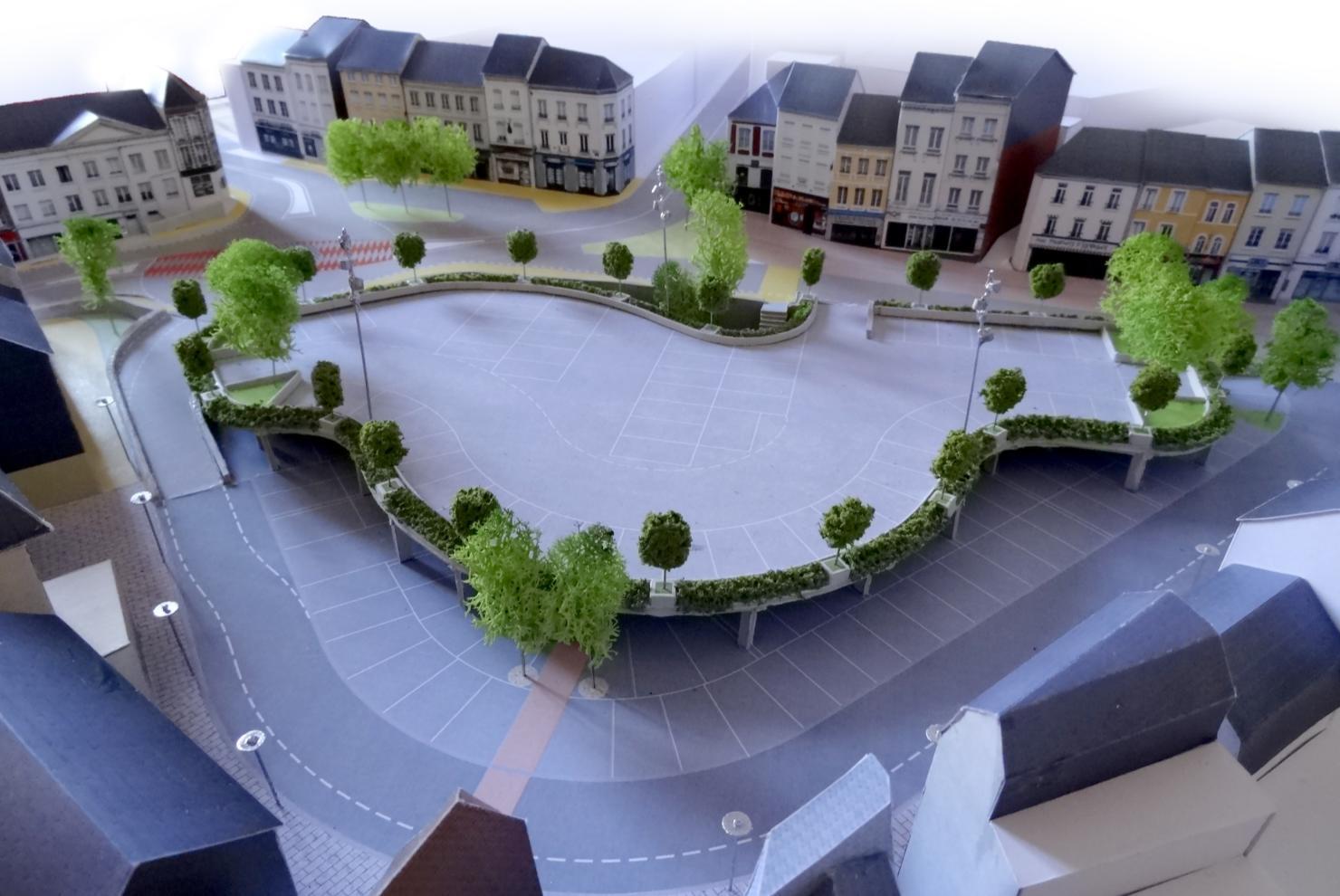 Maquette de la Place Charles De Gaulle © Architecte Olivier BRESSAC